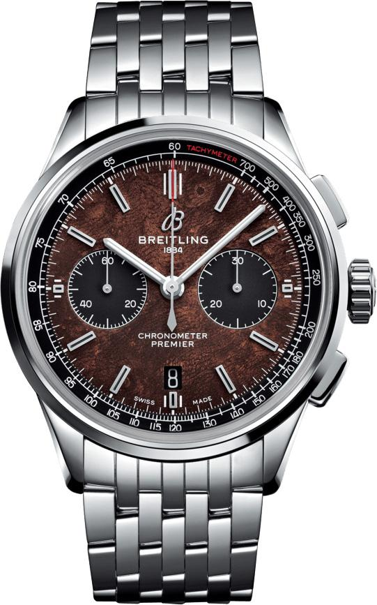 Breitling Premier B01 Chronograph 42 Bentley Centenary Stainless Steel / Wood / Calf / Bracelet