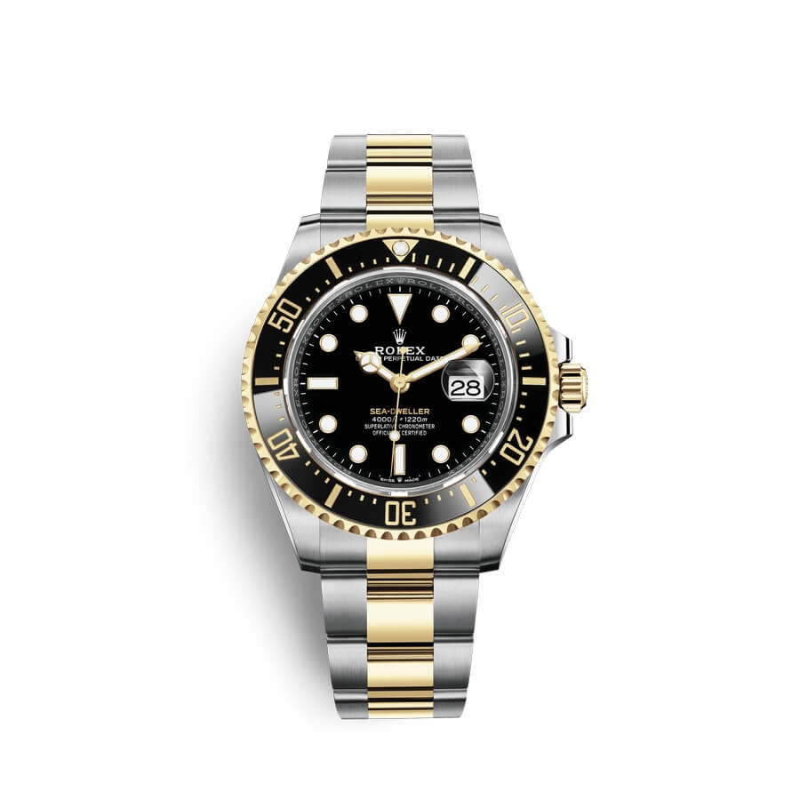 Rolex Sea-Dweller Oystersteel 18 ct yellow gold M126603-0001 Black Dial