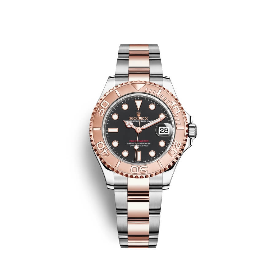 Rolex Yacht-Master 37 Oystersteel 18 ct Everose gold M268621-0004 Black Dial