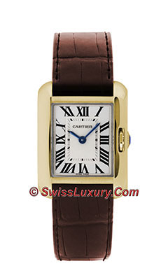 Cartier Tank Anglaise Yellow Gold - Alligator StrapW5310028