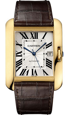 Cartier Tank Anglaise Yellow Gold - Alligator StrapW5310032