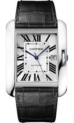 Cartier Tank Anglaise White Gold - Alligator StrapW5310033