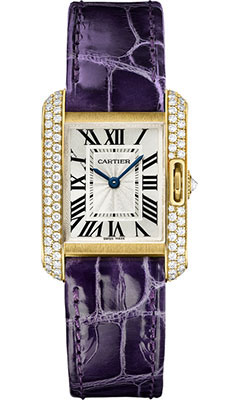 Cartier Tank Anglaise Yellow Gold With Diamonds WT100014