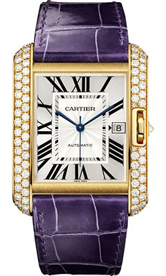 Cartier Tank Anglaise Yellow Gold With Diamonds WT100022