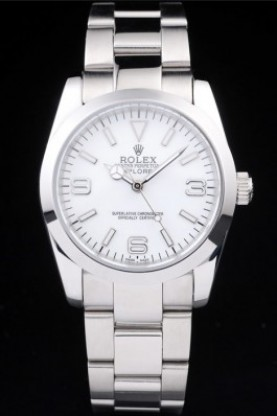 Rolex Explorer Polished Stainless Steel White Dial (rl282)