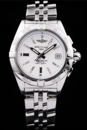 Breitling Certifie Stainless Steel Strap White Dial (bl314)
