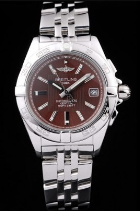 Breitling Certifie Stainless Steel Strap Brown Dial (bl318)