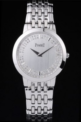 Piaget Dancer Stainless Steel Case Double Studded Minute Markers