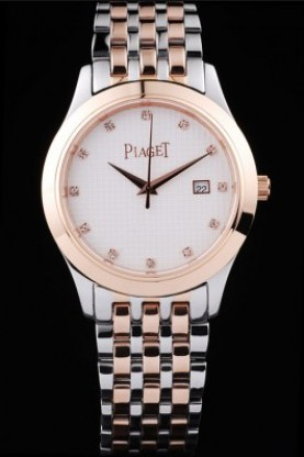 Piaget Dancer Rose Gold Case White Checkered Dial (pg14)