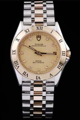 Tudor Swiss Classic Prince Date Stainless Steel Case Rose Gold B