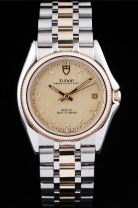 Tudor Swiss Classic Prince Date Stainless Steel Case Rose Gold R