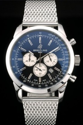 Breitling Transocean Stainless Steel Case Black Dial (bl378)