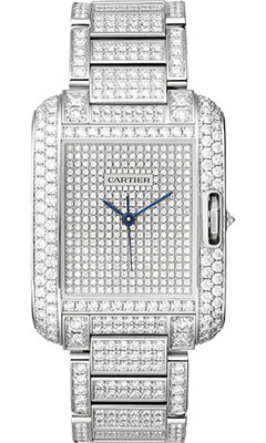 Cartier Tank Anglaise White Gold With Diamondshpi00561