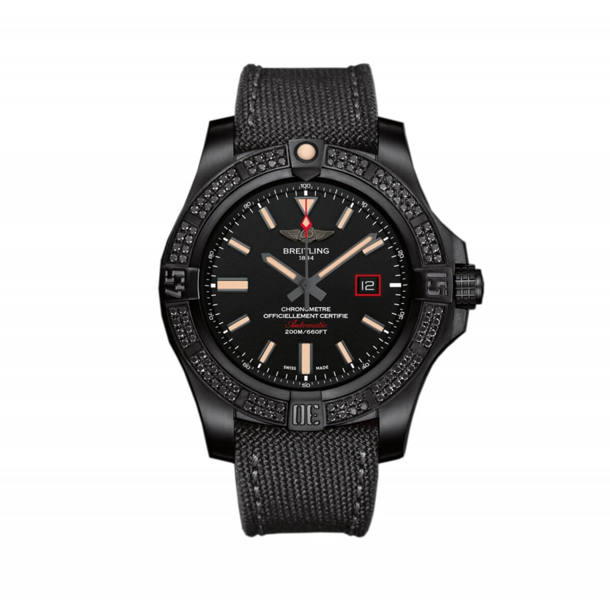 Breitling Avenger Titanium Black Dial Mens V17311AT/BD74 Watch