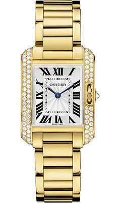 Cartier Tank Anglaise Yellow Gold With Diamondswt 100005