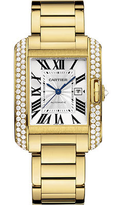 Cartier Tank Anglaise Yellow Gold With Diamondswt100006