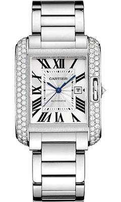 Cartier Tank Anglaise White Gold With Diamondswt100009