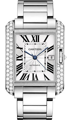 Cartier Tank Anglaise White Gold With Diamondswt100010