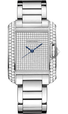 Cartier Tank Anglaise White Gold With Diamondswt100011
